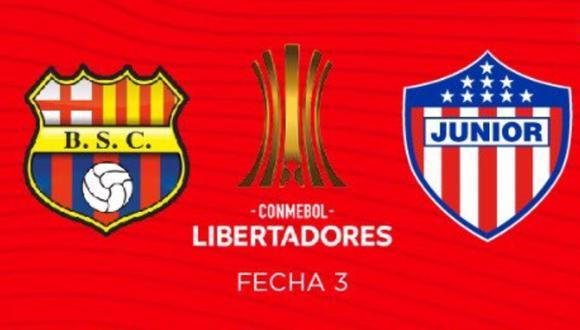 Barcelona SC vs Junior - Ver la Copa Libertadores