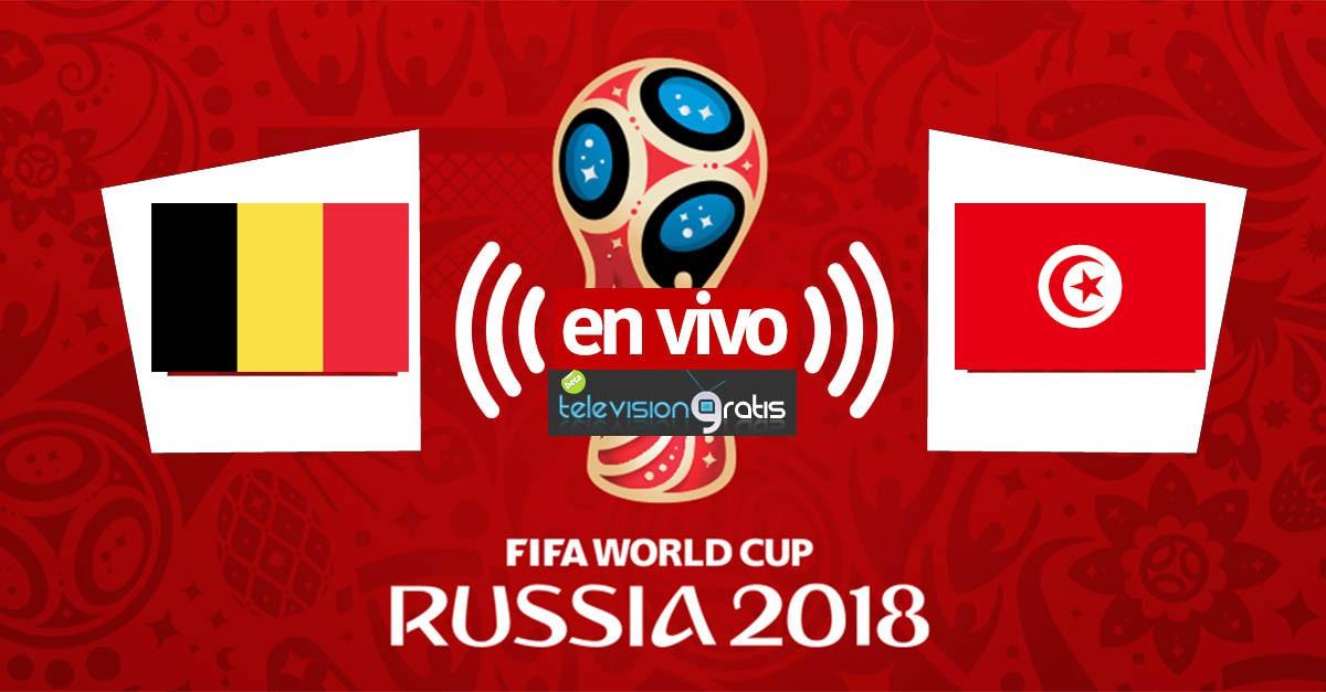Bélgica vs Túnez en vivo