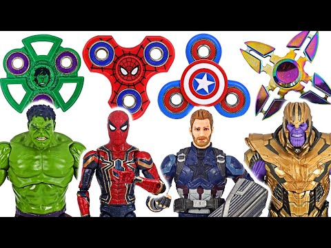 DuDuPopTOY - Fidget Spinner Hulk, Spider-Man VS Thanos EN VIVO