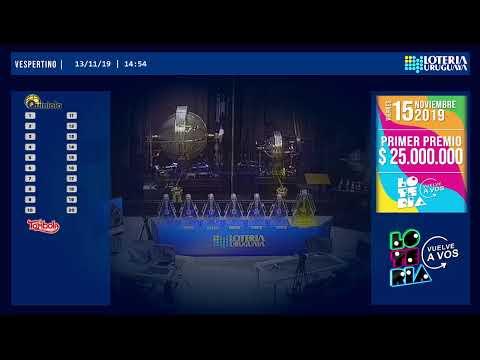 Emisión en directo de la Loteria Uruguaya