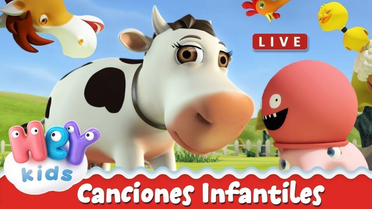 HeyKids - Canciones infantiles y videos para niños: La Vaca Lola, Los Pollitos Dicen EN VIVO