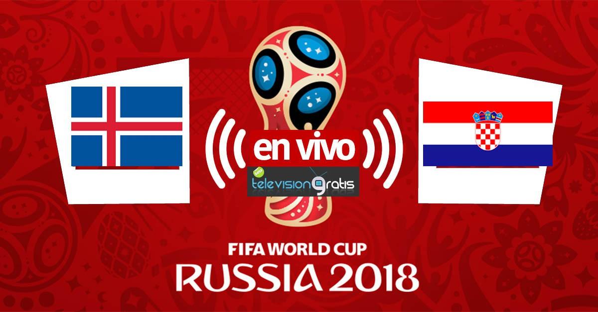 Islandia vs Croacia en vivo