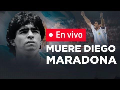MURIÓ DIEGO ARMANDO MARADONA - EN VIVO
