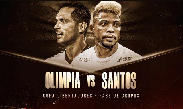 Olimpia vs Santos - Copa Libertadores EN VIVO