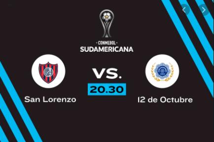 San Lorenzo vs 12 de Octubre EN VIVO - Copa Sudamericana