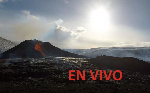 Volcán Eyjafjallajokull en Islandia - EN VIVO